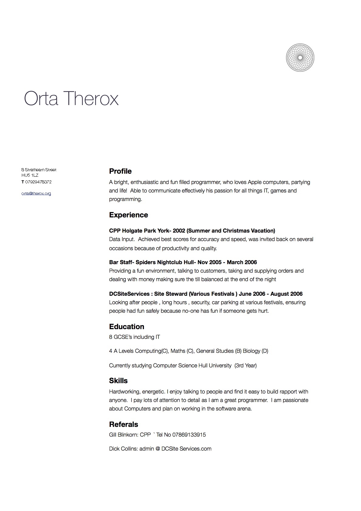 2007 ...  Ios Developer Resume