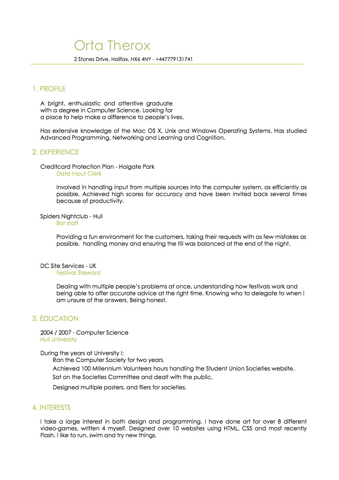 Help I need to make a resume ?